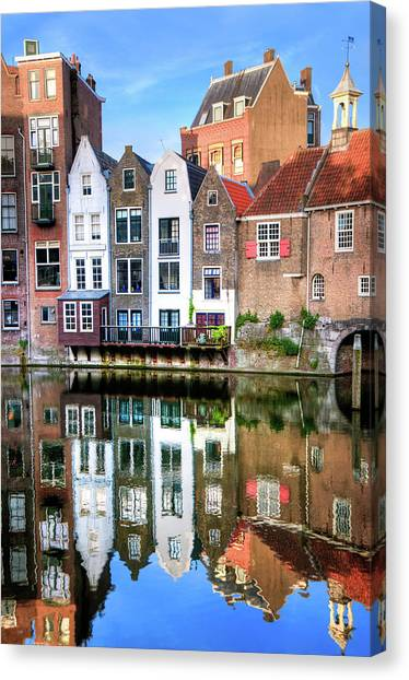Brick House Canvas Print - Rotterdams Delfshaven With His Historic by Aleksandargeorgiev