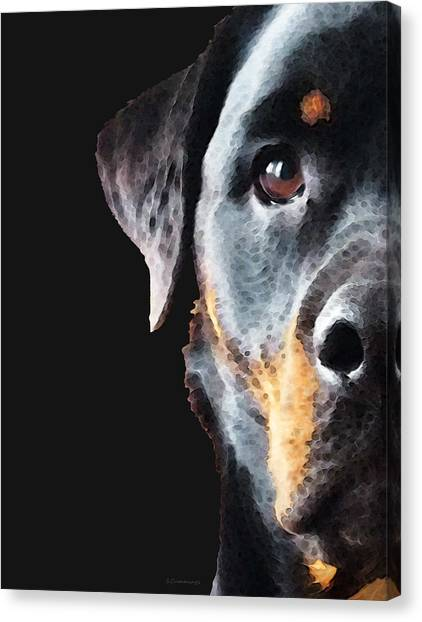 Rottweilers Canvas Print - Rottie Love - Rottweiler Art By Sharon Cummings by Sharon Cummings