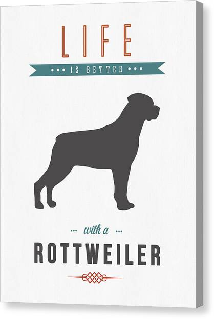 Rottweilers Canvas Print - Rottweiler 01 by Aged Pixel