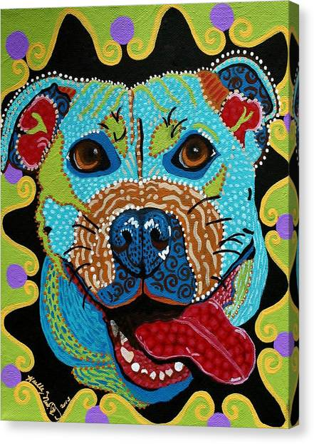 Joyful Pup From Krelly Art Canvas Print