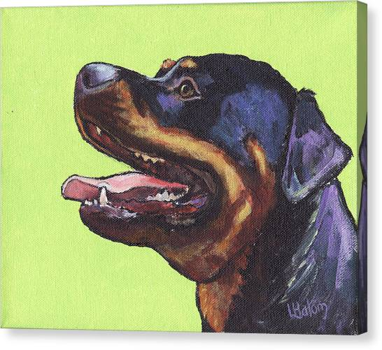 Rottweilers Canvas Print - Rottweiler by Greg and Linda Halom