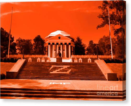 Rotunda Uva Orange Canvas Print