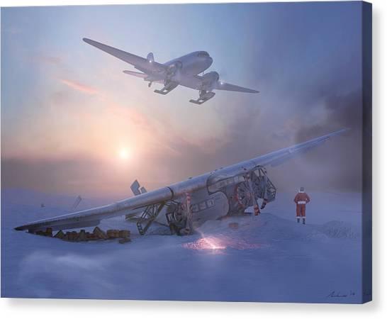 Santa Claus Canvas Print - Rough Night At The North Pole by Hangar B Productions