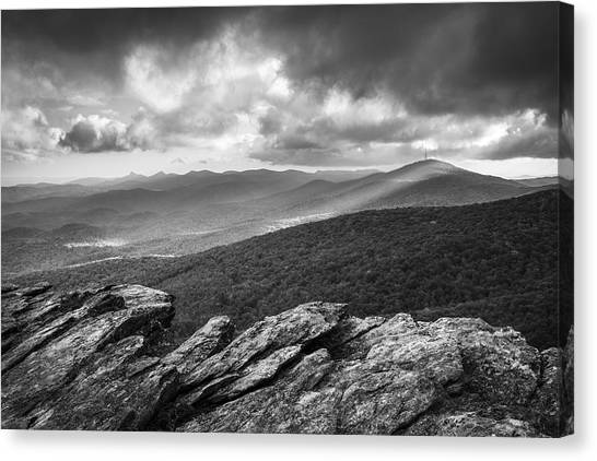 Blue Ridge Parkway Canvas Print - Rough Ridge Grandfather Mountain Blue Ridge Parkway - Remains Of The Day by Dave Allen