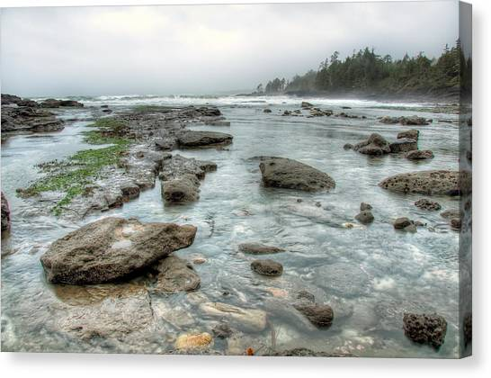 Juan De Fuca Provincial Park Canvas Print - Rough Waters by James Wheeler