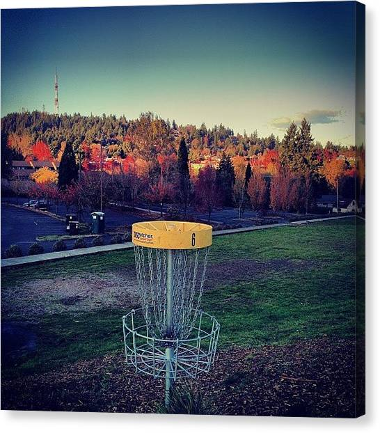 Rome Canvas Print - Round Of #discgolf Before The Sun Goes by Rome Repcak