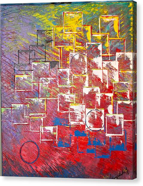 Round Peg Canvas Print
