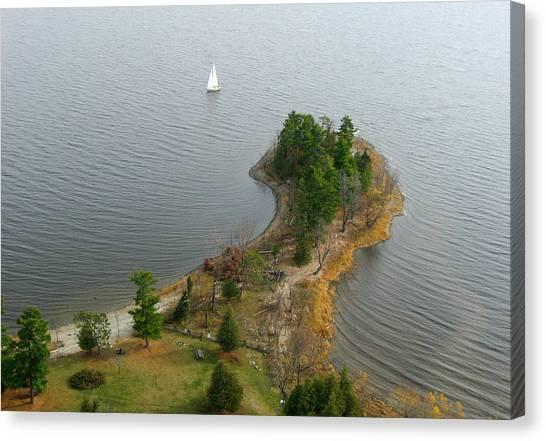 Round The Point  Pinheys Point Ontario Canvas Print