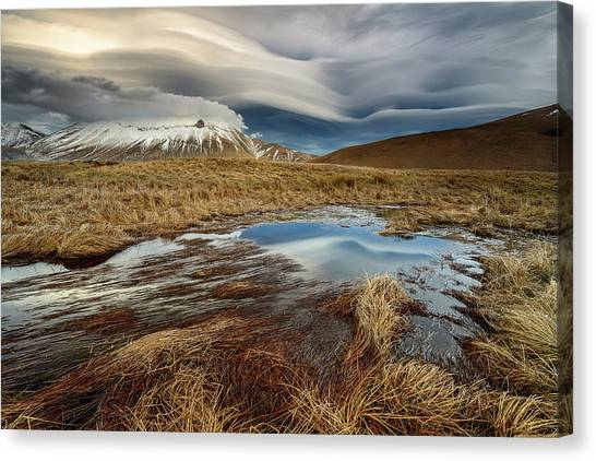 Barren Canvas Print - Roundness Clouds by Riccardo Lucidi