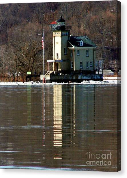 Roundout Lighthouse Canvas Print