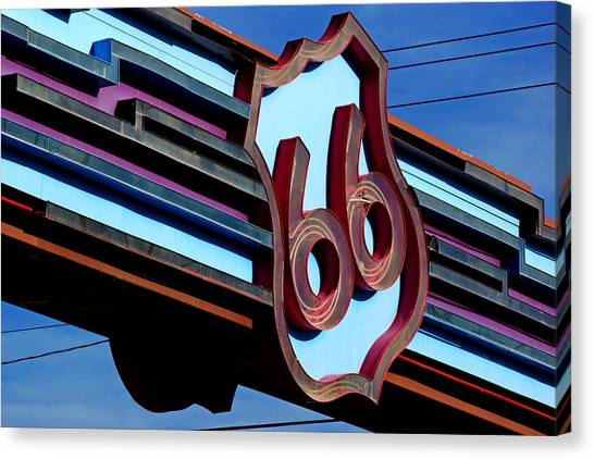 Route 66 Archway Canvas Print