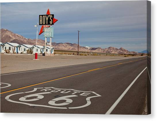 Route 66 At Amboy Canvas Print