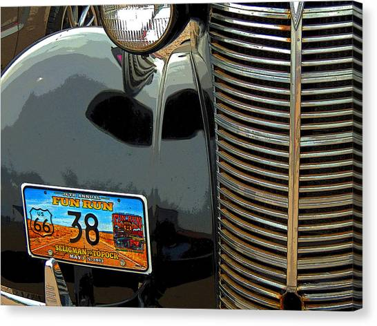 Fun Run Canvas Print - Route 66 Classic by Donna Lee Young