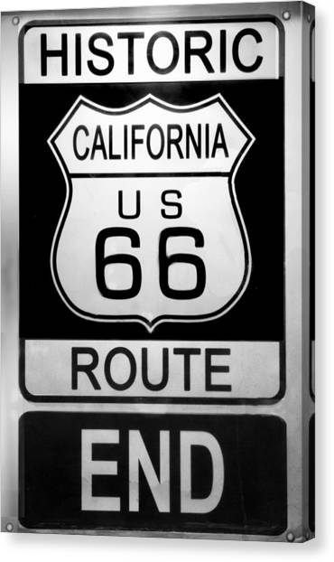 Route 66 End Canvas Print