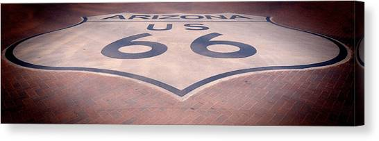 Route 66 In Brick  Canvas Print