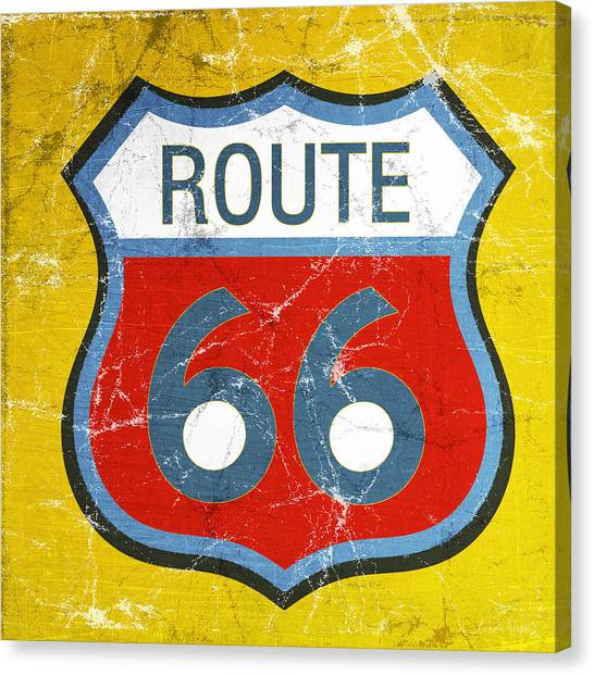 Cafe Art Canvas Print - Route 66 by Linda Woods