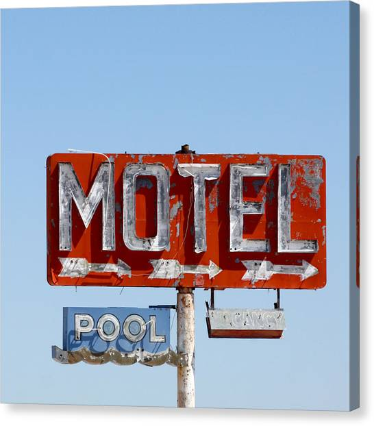 Route 66 Motel Sign Canvas Print