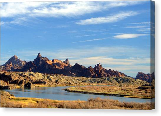 Route 66 Needles Mtn Range 2      Sold Canvas Print