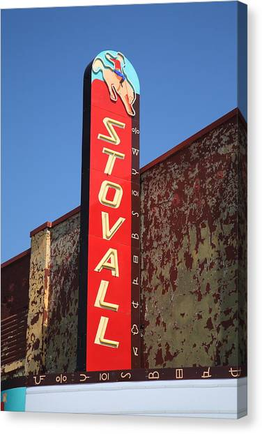 Historic Route 66 Canvas Print - Route 66 - Stovall Theater by Frank Romeo