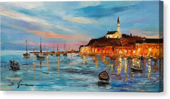Rovanij Harbour Canvas Print