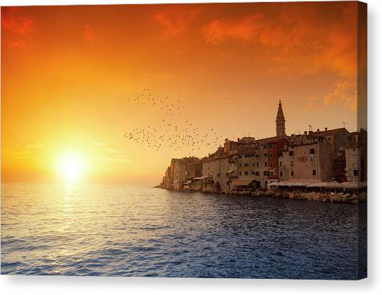 Rovinj By Sunset Canvas Print by Focusstock