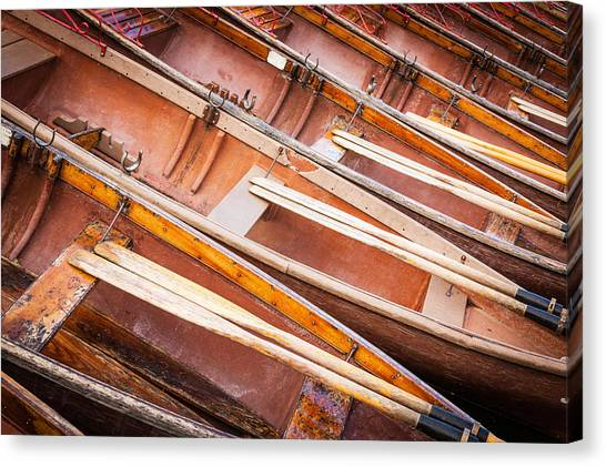 Row Boats Canvas Print