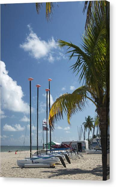 Row Of Sailboats Canvas Print