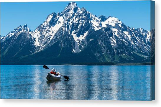 Teton Canvas Print - Row Your Boat by Kristopher Schoenleber