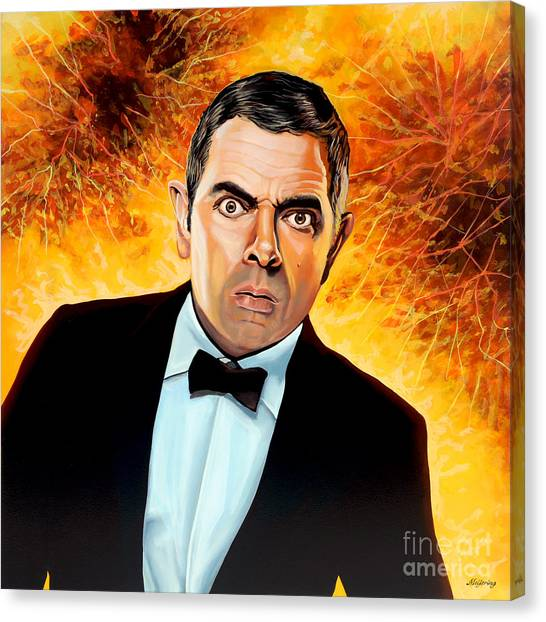 Witches Canvas Print - Rowan Atkinson Alias Johnny English by Paul Meijering