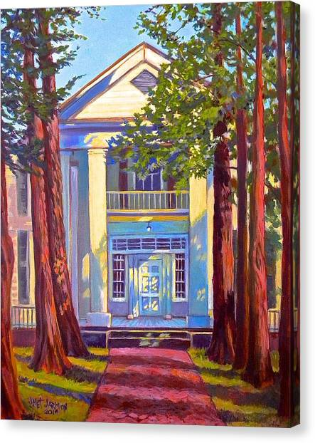 Canvas Print featuring the painting Rowan Oak by Jeanette Jarmon