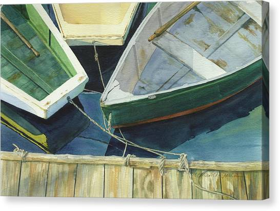 Rowboats Canvas Print - Rowboat Trinity II by Marguerite Chadwick-Juner