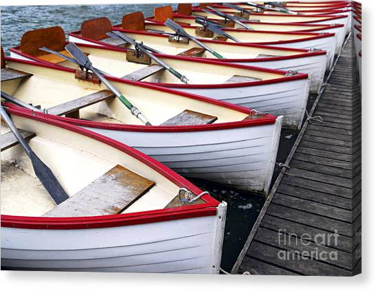 Boat Canvas Print - Rowboats by Elena Elisseeva
