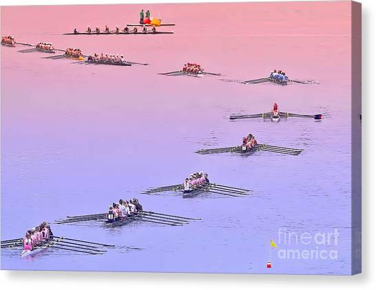 Rowers Arc Canvas Print