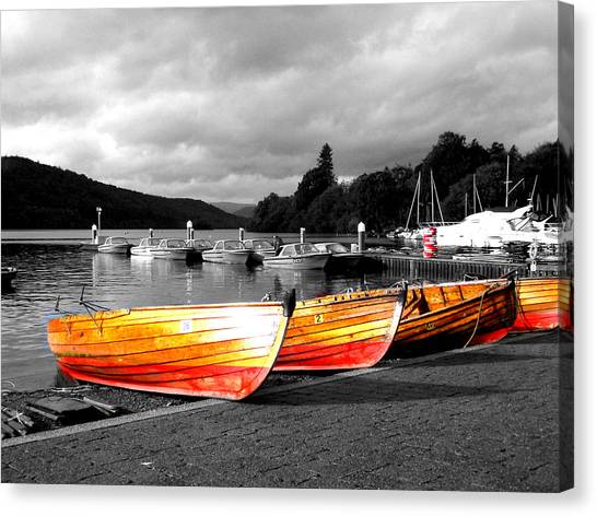 Rowing Boats Ready For Work Canvas Print