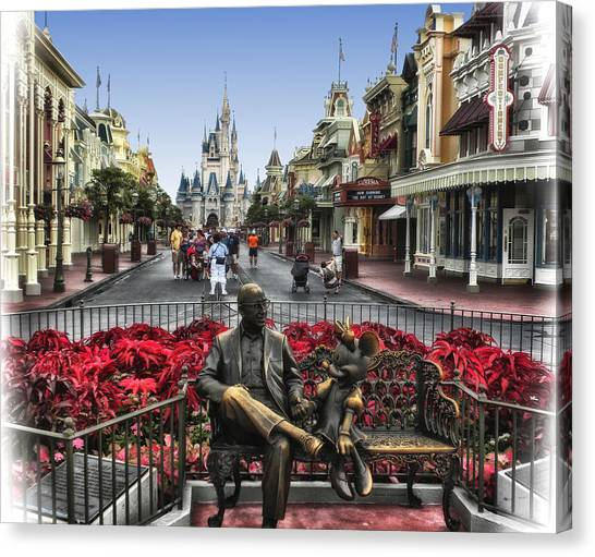 Roy And Minnie Mouse Walt Disney World Canvas Print