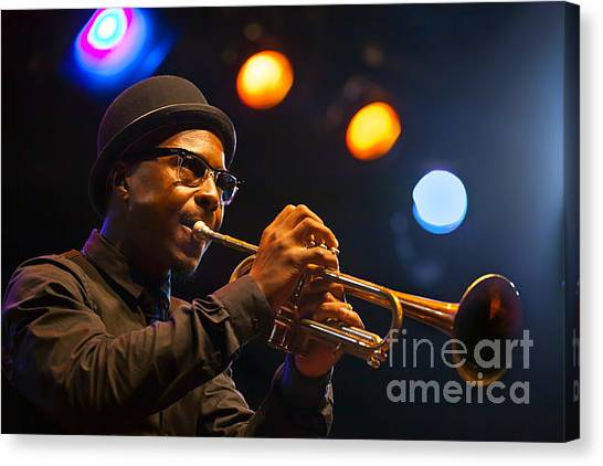 Roy Hargrove With Hat Canvas Print