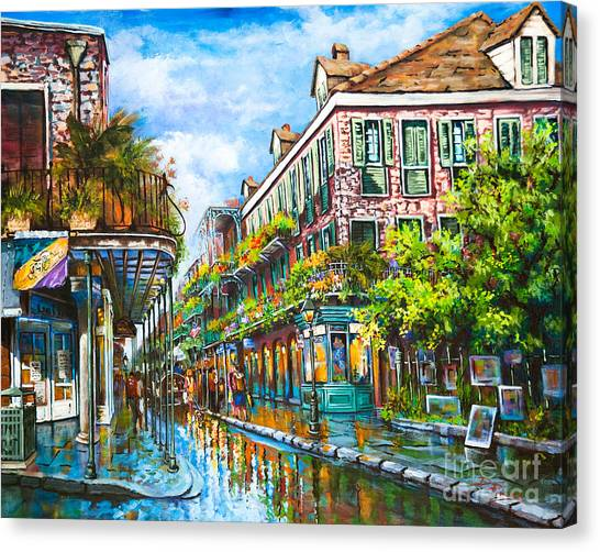 Park Scene Canvas Print - Royal At Pere Antoine Alley, New Orleans French Quarter by Dianne Parks