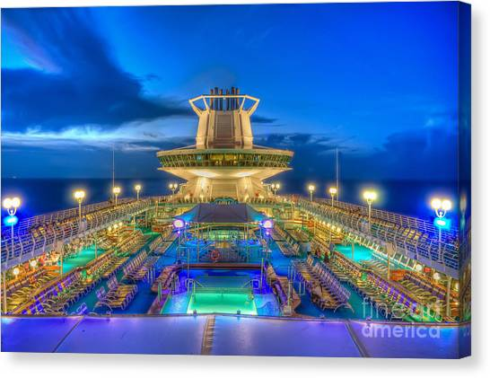 Royal Carribean Cruise Ship  Canvas Print