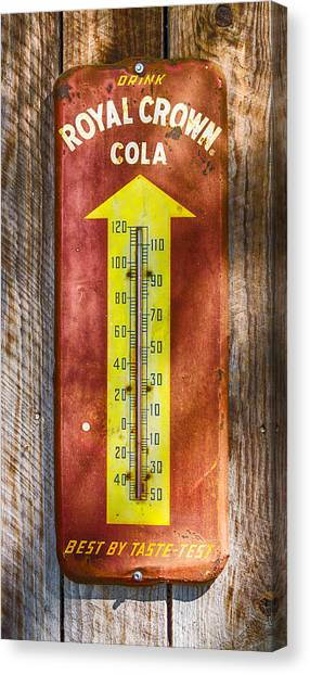 Royal Crown Barn Thermometer Canvas Print