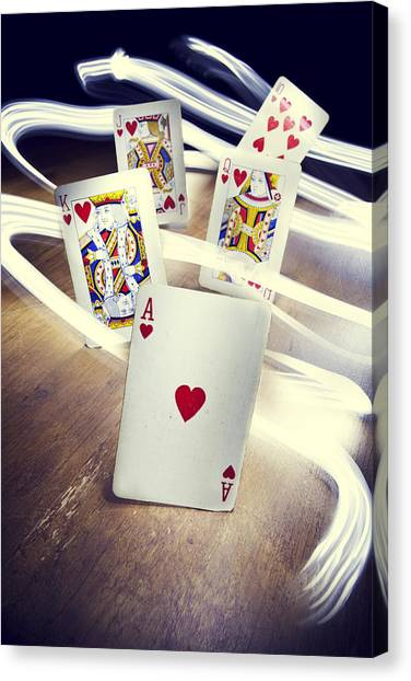 Lucky Canvas Print - Royal Flush by Samuel Whitton