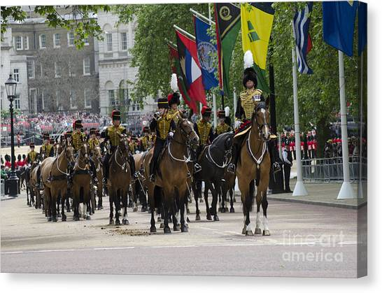 Royal Guard Canvas Print - Royal Horse Guards Of The Cavalry by Andrew Chittock