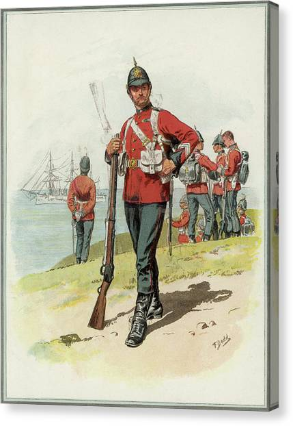 Royal Marines Canvas Print - Royal Marine Light Infantry  A Private by Mary Evans Picture Library