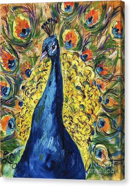 Royal Peacock Canvas Print