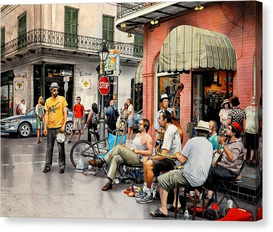 Royal Street Jazz Canvas Print