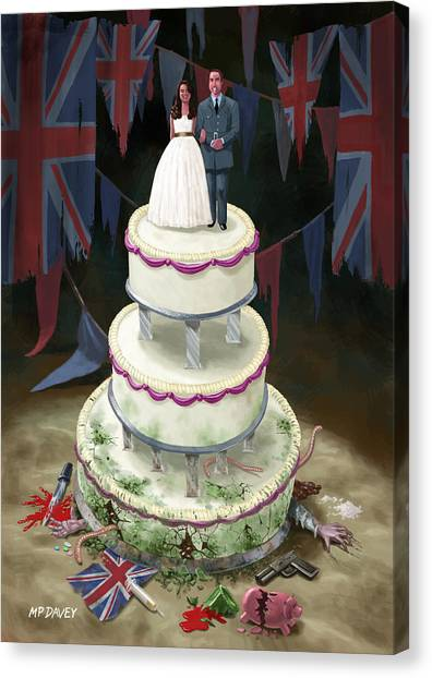 Kate Middleton Canvas Print - Royal Wedding 2011 Cake by Martin Davey