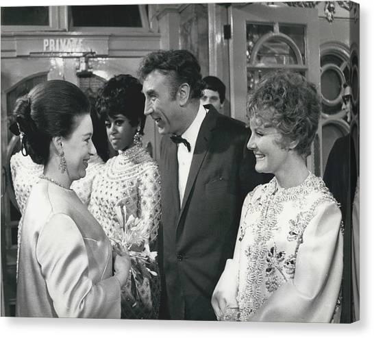 Royals Attend The Royal Variety Performance At The London Canvas Print by Retro Images Archive