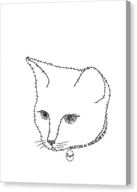 Royalty In A Word Is Cat Canvas Print by Bethany Martin