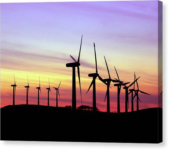 Wind Farms Canvas Print - Royd Moor Wind Farm by Martin Bond/science Photo Library