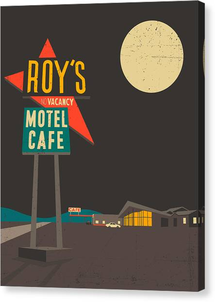 Mojave Desert Canvas Print - Roys Cafe by Jazzberry Blue