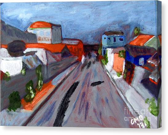 Rua Dr Rafael Ribeiro Study Iv Canvas Print by Greg Mason Burns
